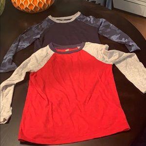 Bundle boys long sleeve raglan T-shirt's